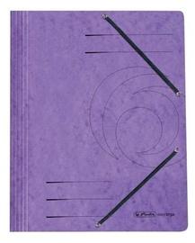 Herlitz 3-Flap File With Elastics A4 Colorspan Purple