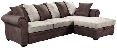Угловой диван Home4you Lucrezia RC 28631 Brown/Beige, 284 x 170 x 90 см