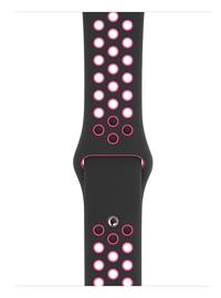 Apple 44mm Black Pink Blast Nike Sport Band S/M & M/L