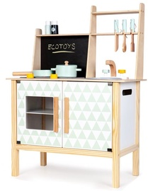 Laste mänguköök EcoToys Wooden With Board For Childrens White