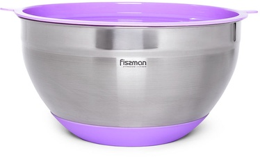 Fissman Mixing Bowl With Silicone Bottom And Pe Lid 4.5l