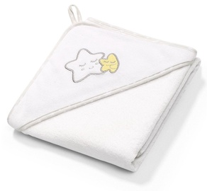 BabyOno Terry Hooded Towel 76x76cm White