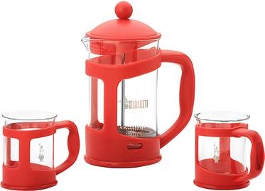 Bialetti Set Coffee Press and Mugs Red
