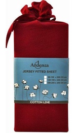 Ardenza Jersey Fitted Sheet 90-100x200cm Deep Red