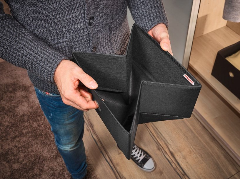 Leifheit Cloth Box Big Box 27.5x28x19cm Black/Combi System