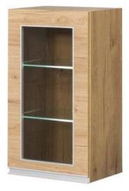 Верхний кухонный шкаф Bodzio Monia With Glass 40 Left Brown, 400x310x720 мм