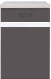 Нижний кухонный шкаф Black Red White Right Junona Line D1D/40/82P Wenge/White, 500x470x850 мм