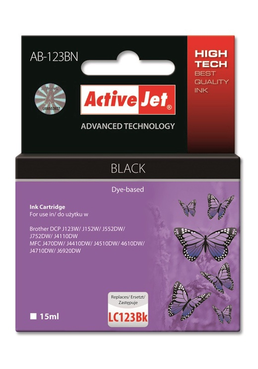 ActiveJet Cartridge AB-123BN 15ml Black