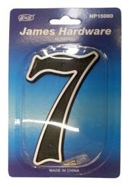 """James Hardware Numeral """"7"""" 150mm Black"""