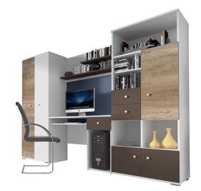 Комплект мебели для детской комнаты Idzczak Meble Tom White/Oak/Grey