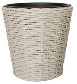 Home4you Flowerpot Wicker D20x20cm Grey