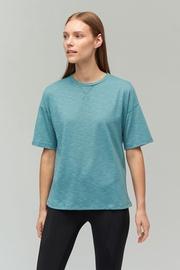 Audimas Light Dri Release T-Shirt Oil Blue L