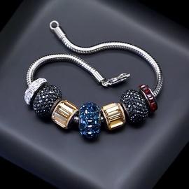 Diamond Sky Bracelet Becharmed Pavé Mini VI With Swarovski Beads
