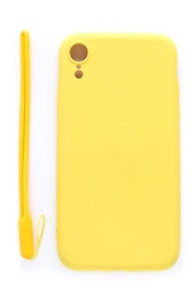 Evelatus Soft Touch Back Case With Strap For Apple iPhone XR Yellow