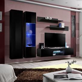 ASM Fly O5 Living Room Wall Unit Set Black