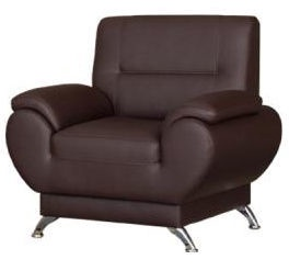Kanclers Livonia Armchair Eco Leather Dark Brown