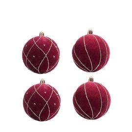 Jõulupuu ehe Christmas Touch SY20DGZB-384 Red, 4 tk