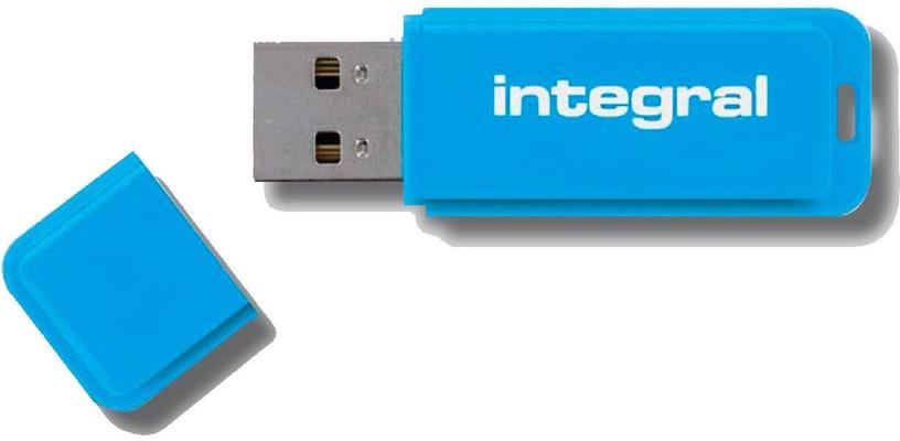 USB mälupulk Integral Neon Blue, USB 2.0, 64 GB