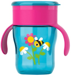 Philips Avent Drinking Cup 360 260ml Pink Turquoise SCF 782/17