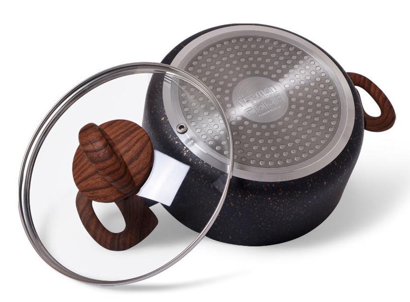 Fissman Black Cosmic Cookware Set 3pcs