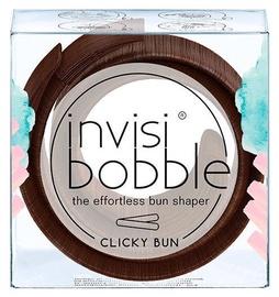 Invisibobble Clicky Bun 1pcs Pretzel Brown