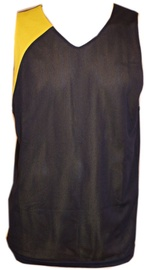 Bars Mens Basketball Shirt Black/Yellow 173 XXL