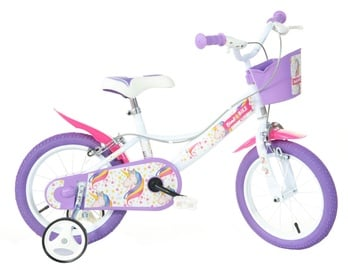 "Laste jalgratas Bimbo Bike 77326 14"" White Violet"