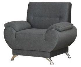 Tugitool Kanclers Livonia Fabric Gray, 92x76x89 cm