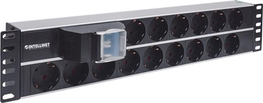Intellinet Power Strip Rack 19'' 2U 250V/16A 15xSchuko 3m