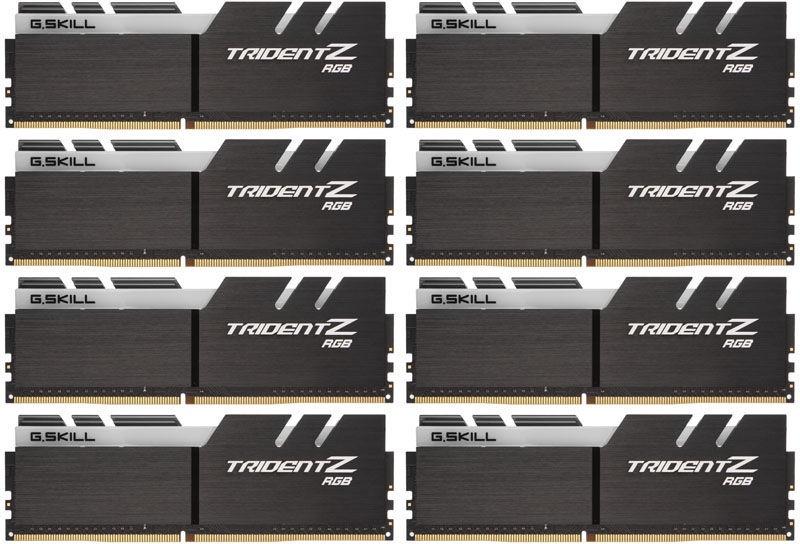 G.SKILL Trident Z RGB for AMD Ryzen 64GB 2933MHz CL14 DDR4 KIT OF 8 F4-2933C14Q2-64GTZRX