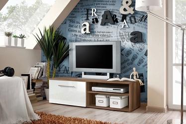 ТВ стол ASM Bono I Plum/White Gloss, 1200x450x350 мм