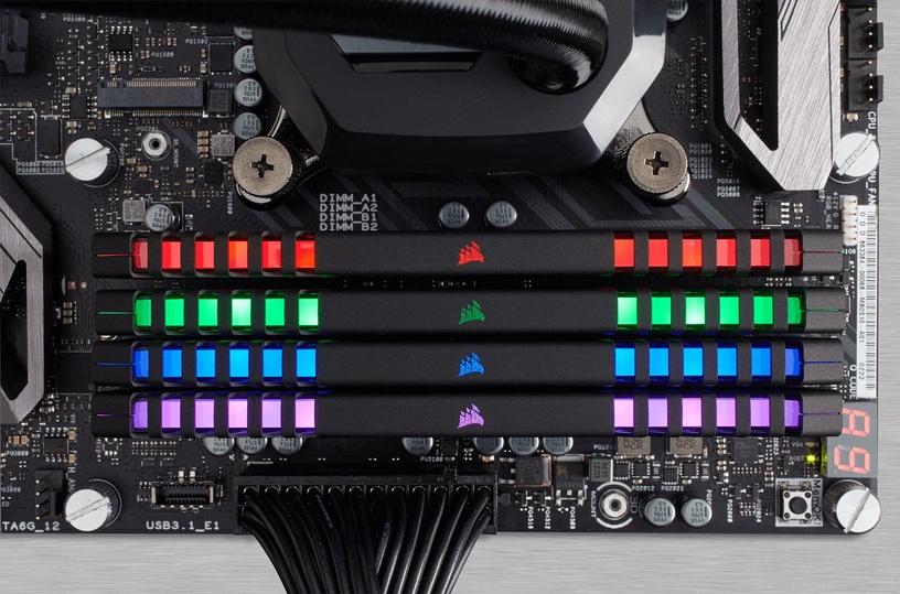 Corsair Vengeance RGB Series 64GB 3200MHz CL16 DDR4 KIT OF 4 CMR64GX4M4C3200C16