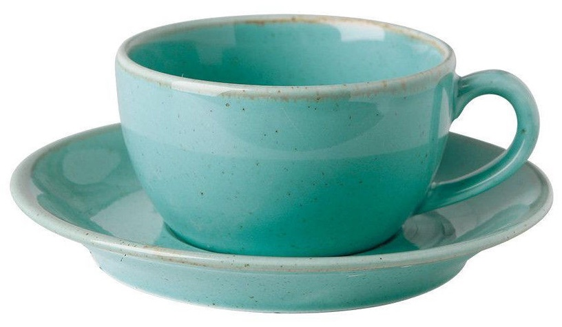 Porland Seasons Cup With Saucer 20.7cl Turquoise