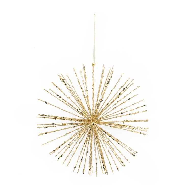 Christmas Touch Decoration Snowflake 24cm Golden