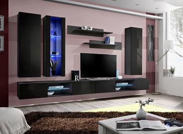 ASM Fly Q4 Living Room Wall Unit Set Black