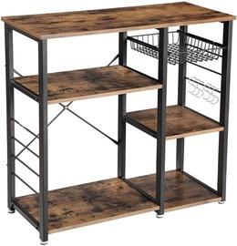 Кухонный гарнитур Songmics Industrial, коричневый/черный, 0.9 м