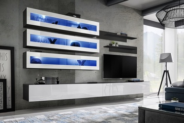 ASM Fly J2 Living Room Wall Unit Set White/Black