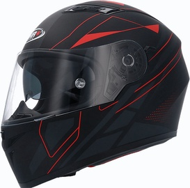 Shiro Helmet SH-600 Elite Matt Black Red L