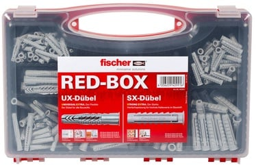 Fischer Dowel Set Box SX/UX 290pcs Grey