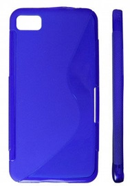 KLT Back Case S-Line Sony Xperia J Silicone/Plastic Blue