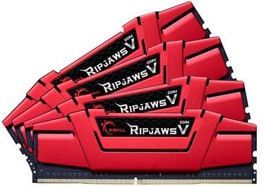 G.SKILL RipJawsV Series Red 64GB 3000MHz CL16 DDR4 KIT OF 4 F4-3000C16Q-64GVRB