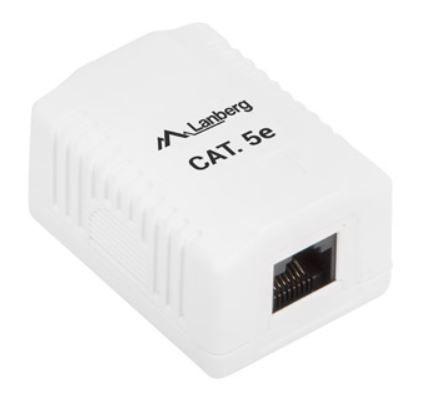 Lanberg UTP Data Box 1 Port Unshielded CAT5e
