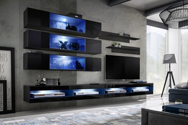 ASM Fly U3 Living Room Wall Unit Set Black
