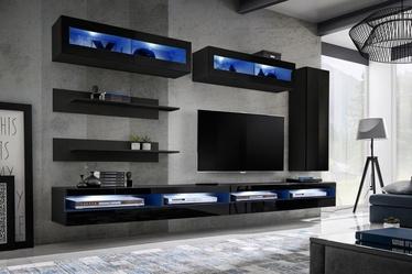 ASM Fly W Living Room Wall Unit Set Black ZZ FY W5