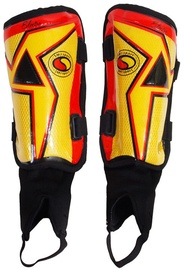 SMJ Electra Senior Shin Guards Yellow Red Black
