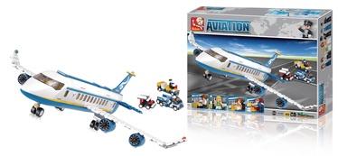 Конструктор Sluban Aviation Passenger Plane Building Kit M38-B0366, 463 шт.