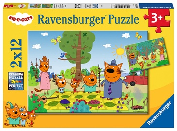Ravensburger Puzzle Kid E-Cats 2x12pcs 05079