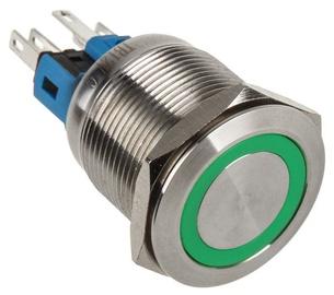 DimasTech Switch Push Button 22mm Silverline Green