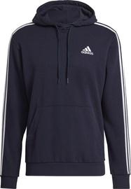 Adidas Essentials 3 Stripes Hoodie GK9081 Blue M