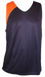 Bars Mens Basketball Shirt Dark Blue/Orange 177 XXL